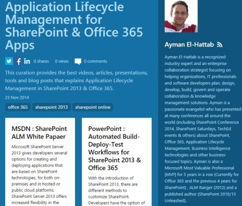 sharepoint 2013 application lifecycle management
